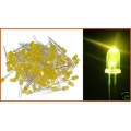 Yellow Leds 3mm, Light Emitting Diodes.(Pack of 20)