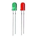 60 X 5mm Mixed Colors Leds pack, Green and Red colors (30 leds each color)