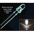 5mm super bright 17000mcd WHITE leds (pack of 20 leds)