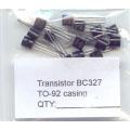 15 X BC327 PNP General Purpose Transistors. 15 Transistors Pack.