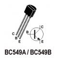 BC549A NPN Transistors. (Pack of 5 Transistors)