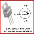 15 X IRF610 N-Channel MOSFET 200V 3.3A. Pack of 15 pieces.