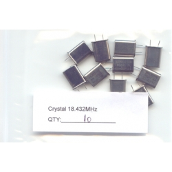 18.432MHz CRYSTALS. (Pack of 2)