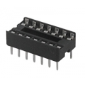 IC sockets for 14 pins DIP ICs, solder type. (Pack of 3)