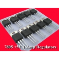 10 X LM7805 1Amp +5V POSITIVE REGULATORS (Pack 0f 10)
