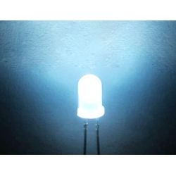 5mm White Round Diffused LEDs,  120 wide Angle. (Pack of 20)