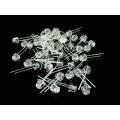50 X 5mm White LEDs, Ultrabright 120 wide angle 1500mcd. (Pack of 50)