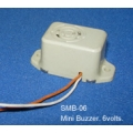 3 X 6V STAR MINI ELECTRONIC BUZZER, ALARM, 6 Volts. Pack of 3.