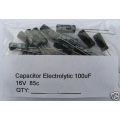 100uF  16V 85c Electrolytic Capacitors. (pack of 3)