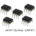10 X uA741 (LM741) Op-Amp 8-Pin Dip ICs. (10 pieces pack)