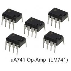 10 X uA741 (LM741) Op-Amp 8-Pin Dip ICs. (10 pieces pack)