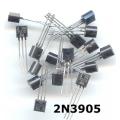25 X 2N3905 PNP transistors. Pack of 25 Transistors.