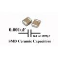 50 x 0.001uF SMD/SMT Ceramic Capacitor 50V. (Pack of 50)