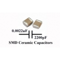50 x SMD/SMT Ceramic Capacitor 2200pF, (0.0022uF) -  Murata. (Pack of 50)