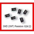 100K Ohm SMD/SMT Resistor 0805 1/8W. (Pack of 10)