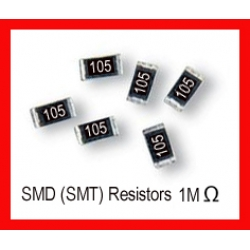 1M Ohm SMD/SMT Resistor 0805 1/8W. (Pack of 10)