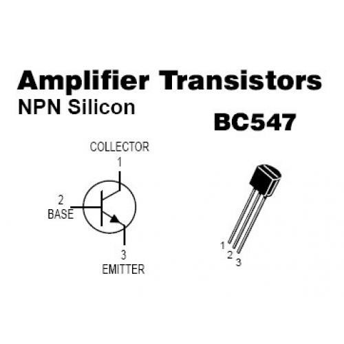 BC547 NPN Signal Transistor For Sale on tda7000 radio kit