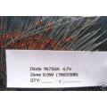 50 X 1N750A 0.5W (= 1N5230B) 4.7V ZENER DIODES. (50 diodes pack)