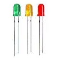 60 X 3mm Leds Mixed Colors, Green/Yellow/Red (20 leds each color)
