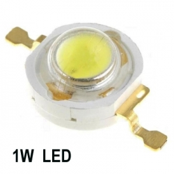 1W LEDs Warm white Color Super Bright High Power 90Lm. (pack of 2)