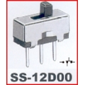5 X Off/On Small Toggle Switch 3 ways, SS12D00. (Pack of 5).