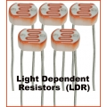 Light Dependent Resistors LDR 5K - 10K ohm photo detectors (Pack of 2 resistors)