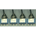 4 X Three positions Toggle Switch, mini 1PDT on/off off/on (Pack of 4 switches).