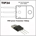 3 X TIP34A PNP SILICON POWER TRANSIATORS, 10Amp. (pack of 3 Transistors)